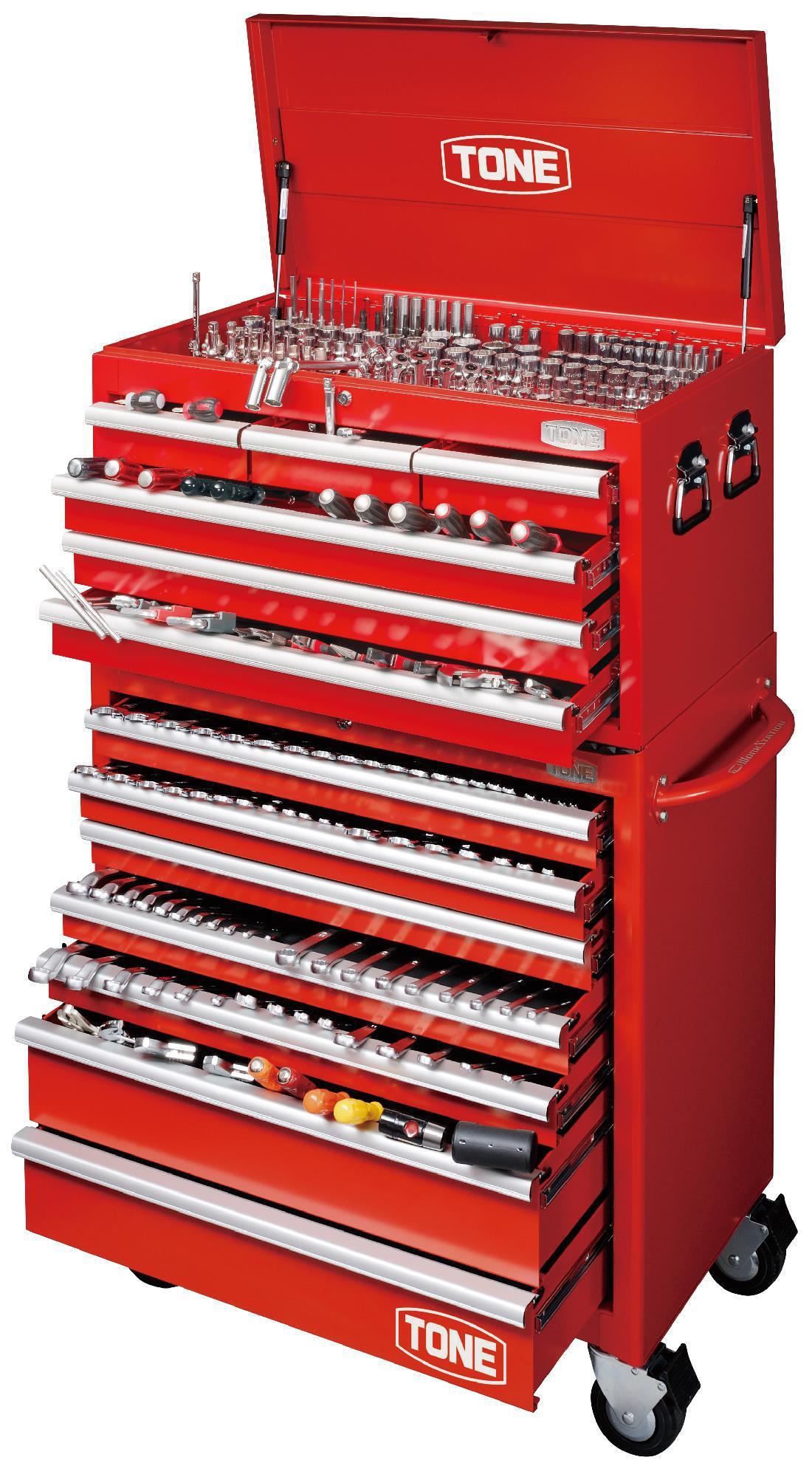 Tủ dụng cụ TONE 11 tầng 380 chi tiết TCX960